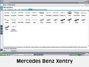 نرم افزار تعمیر و نگهداری بنز Mercedes Benz Xentry